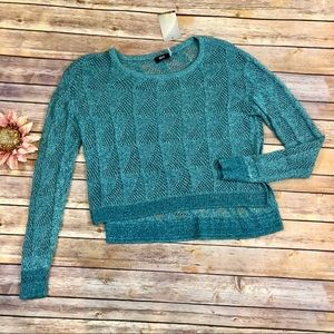 Urban Outfitters NWT BDG Teal Cropped Sweater